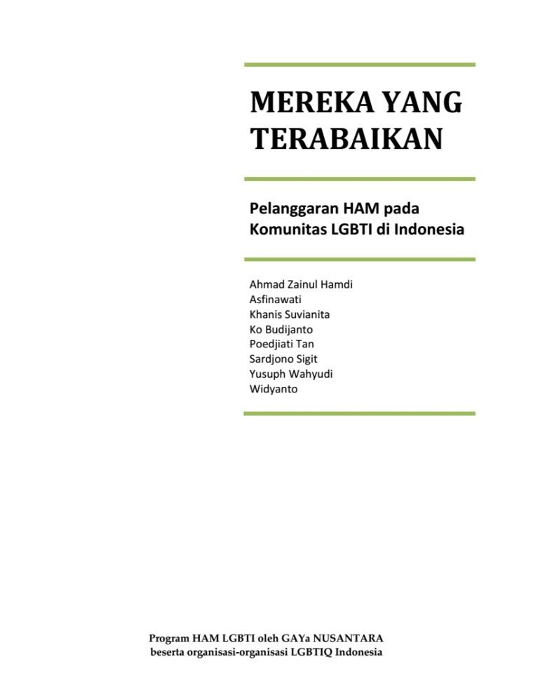 Pelanggaran HAM pada Komunitas LGBTI di Indonesia